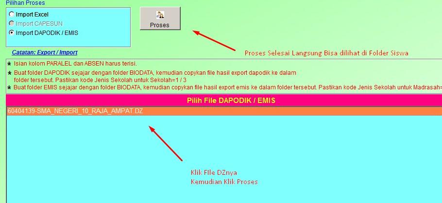 Proses Input File DZ