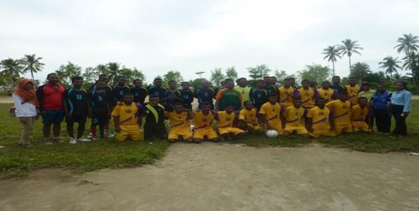 Pertandingan Sepakbola Urbinasopen Vs Wawarnai ibukota distrik Wawarbomi dan Waigeo Timur