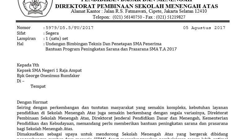 Modus Penipuan Berkedok Bantuan Prasarana Sekolah Dari Kementerian Pendidikan dan Kebudayaan Direktorat Jenderal Pendidikan Dasar dan Menengah