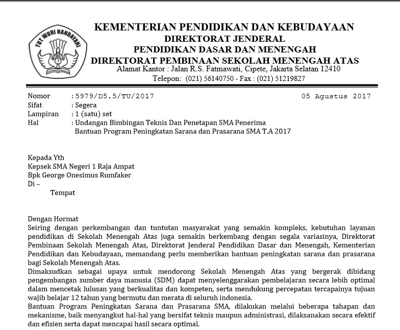 proposal palsu penipu