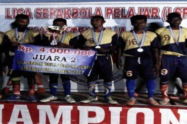 SMAN 10 Urbinasopen, Juara 2 Liga Sepakbola Pelajar Kabupaten Raja Ampat, Provinsi Papua Barat