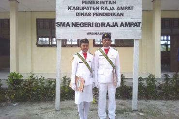 2 Siswa Mendapat Kesempatan Menjadi Paskibraka Kabupaten Raja Ampat