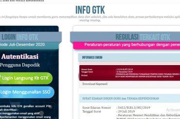 Cara Cek Info GTK per Semester